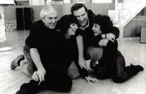 John Kander & Fred Ebb con dos de sus artistas favoritas Liza Minnelli y Chita Rivera