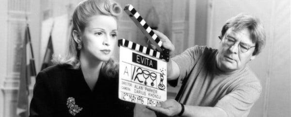 """Alan Parker dirigiendo a Madonna en """"Evita"""""""